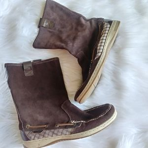 Sperry Top-Sider brown leather boots